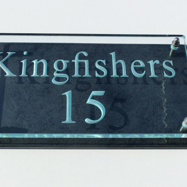 Large Glass Name & House Number Plaques 03