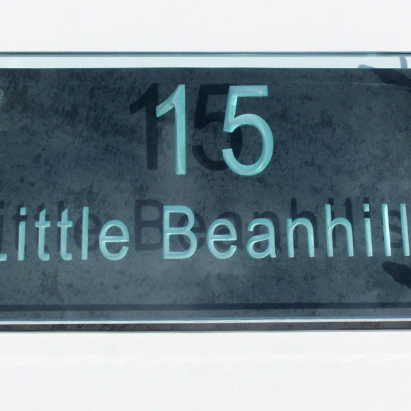 Large Glass Name & House Number Plaques 04