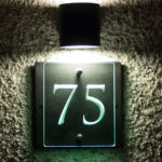 illuminated engraved glass house number sign